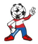 Novelty FOOTBALL HEAD MAN With Austria Austrian Flag Motif For Football Soccer Team Supporter Vinyl Car Sticker 100x85mm